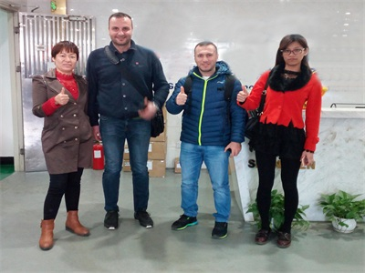 Special VIP customers come to visit our factory